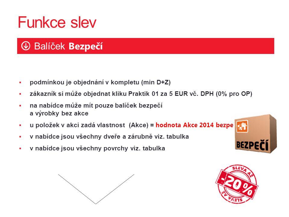  podmínkou je objednání v kompletu (min D+Z)  zákazník si může objednat kliku Praktik 01 za 5 EUR vč.