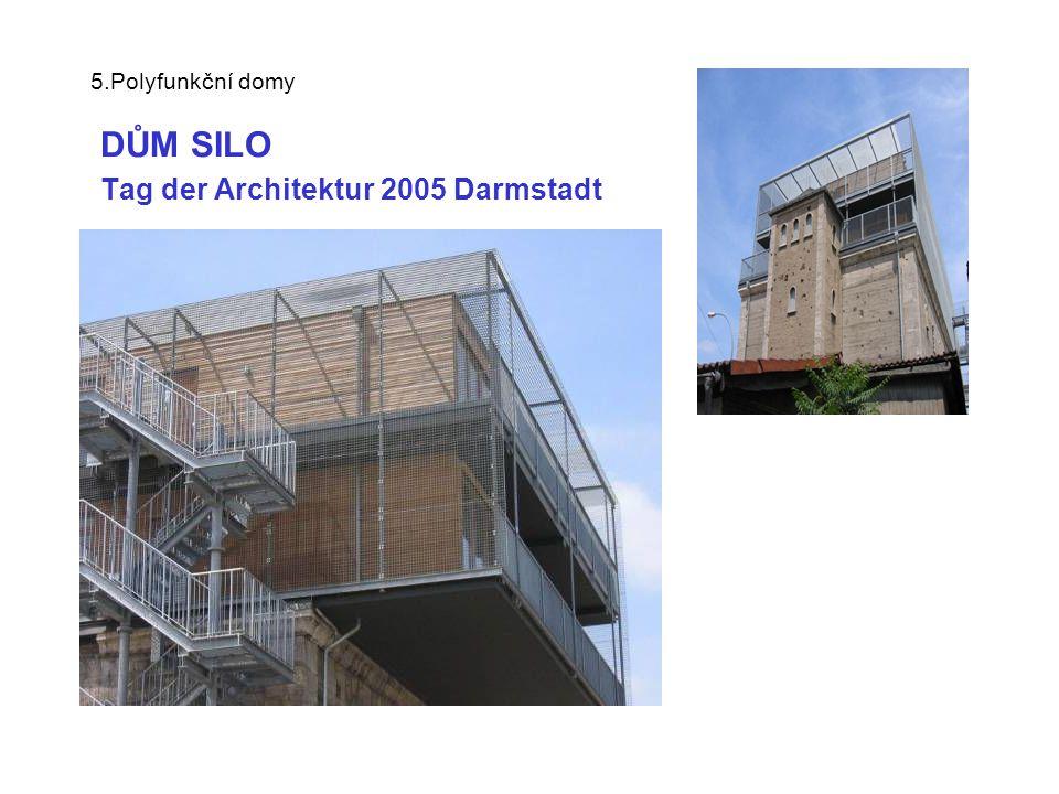 5.Polyfunkční domy DŮM NA DÁLNICI - Tag der Architektur 2005 startovní byty nad hromadnými garážemi