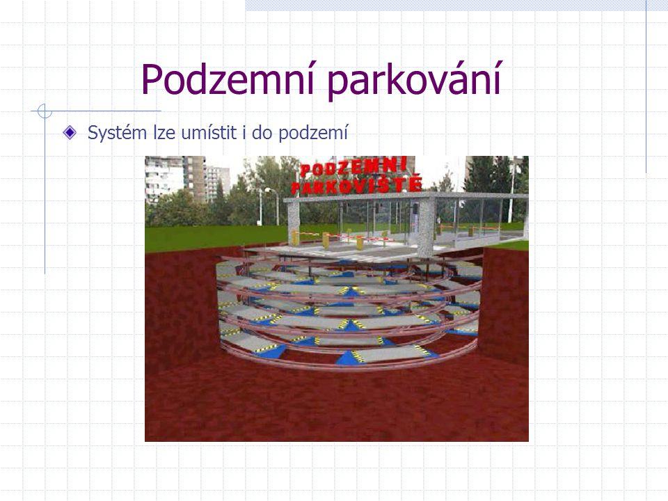 Podzemní parkování Systém lze umístit i do podzemí