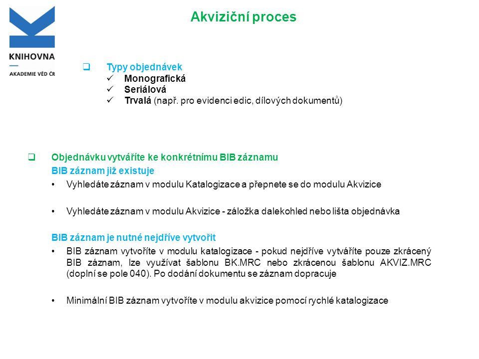 Vytvoření BIB záznamu v Katalogizaci Záznam v modulu Katalogizace můžete vytvořit např.