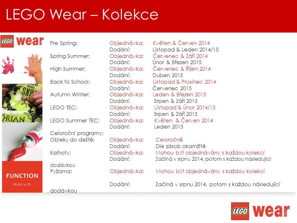 LEGO Wear –Věk & Velikosti LEGO wear představuje kompletní nabídku oblečení pro aktivní kluky a holky ve věku 0-12 let Kolekce jsou navrženy tak, aby odpovídaly vývoji dítěte v daném věku