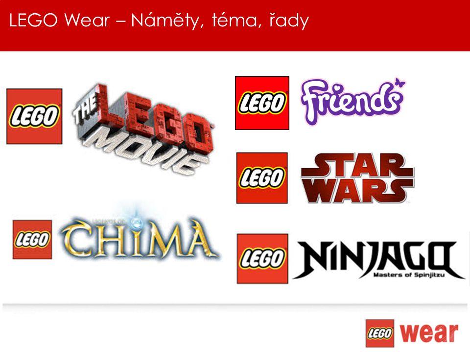LEGO Wear - HIGH SUMMER 2014 V kolekci HIGH Summer bude paleta barev velmi výrazná s použitím prvotřídních barev Kolekce bude inspirována náměty LEGO; LEGO Friends & LEGO Chima.