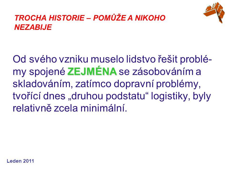 """Leden 2009 Logistikas - Ve starověku – v dobách řecké, římské a byzantské říše - tam exis- tovali vojenští důstojníci s názvem """"Logistikas - byli odpovědní za dodávky, distribuci a finančních náležitostí."""