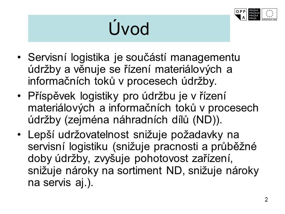 2 Úvod Servisní logistika je součástí managementu údržby a věnuje se řízení materiálových a informačních toků v procesech údržby. Příspěvek logistiky
