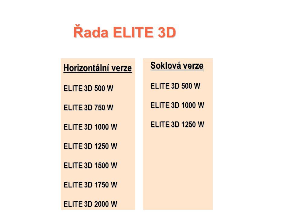 Hospodárnost a komfort ELITE 3D má ochranný vodič se 6 funkcemi Pro ještě větší hospodárnost Programovací kazerty ECOBOX 2 Signalizace ochranného vodi