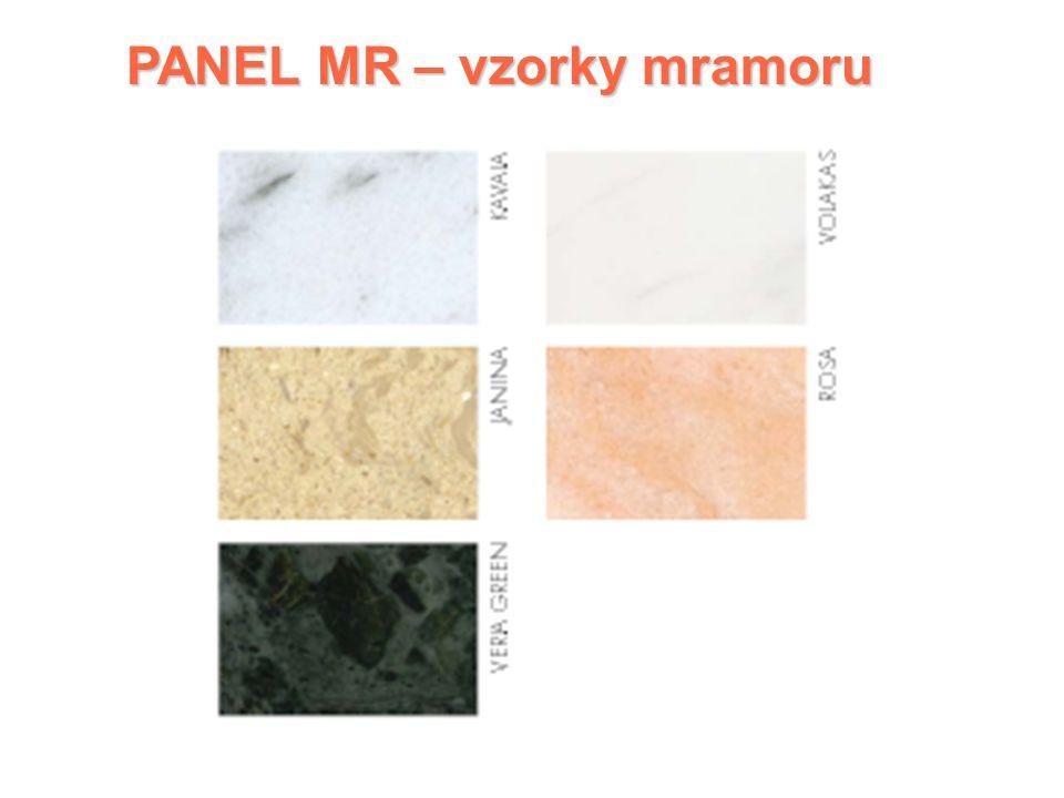 PANEL MR PANEL MR Mramorový sálavý panel   1 řada: Horizontální verze   Tepelná pojistka 80°C   Regulace teploty přídavným pokojovým termostatem