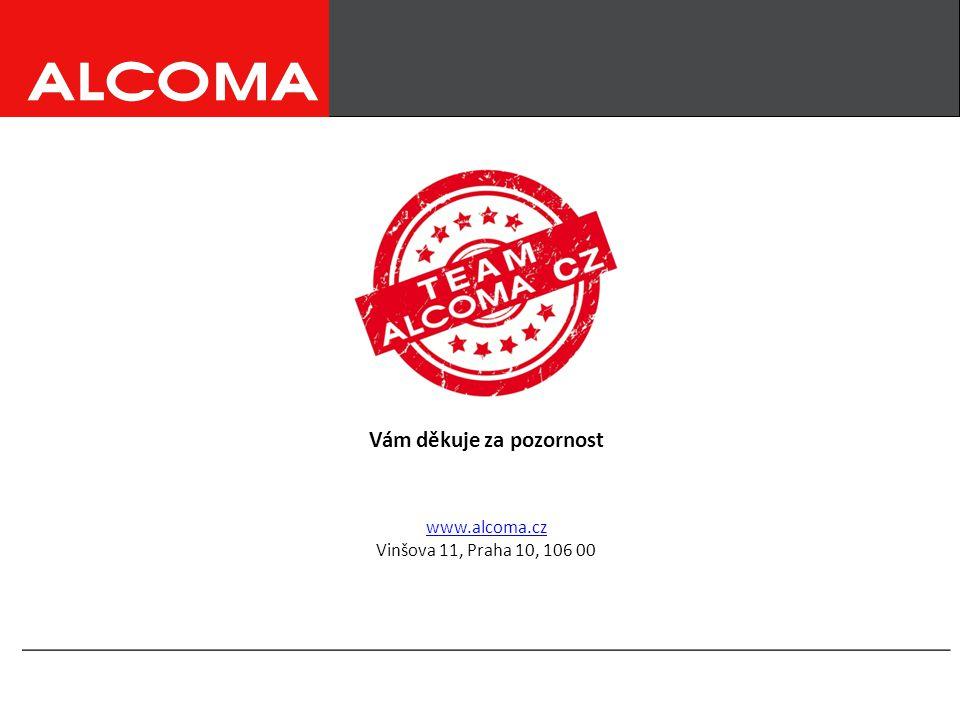 __________________________________________________________ www.alcoma.cz Vinšova 11, Praha 10, 106 00 Vám děkuje za pozornost