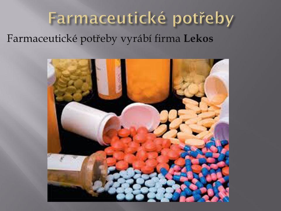 Farmaceutické potřeby vyrábí firma Lekos