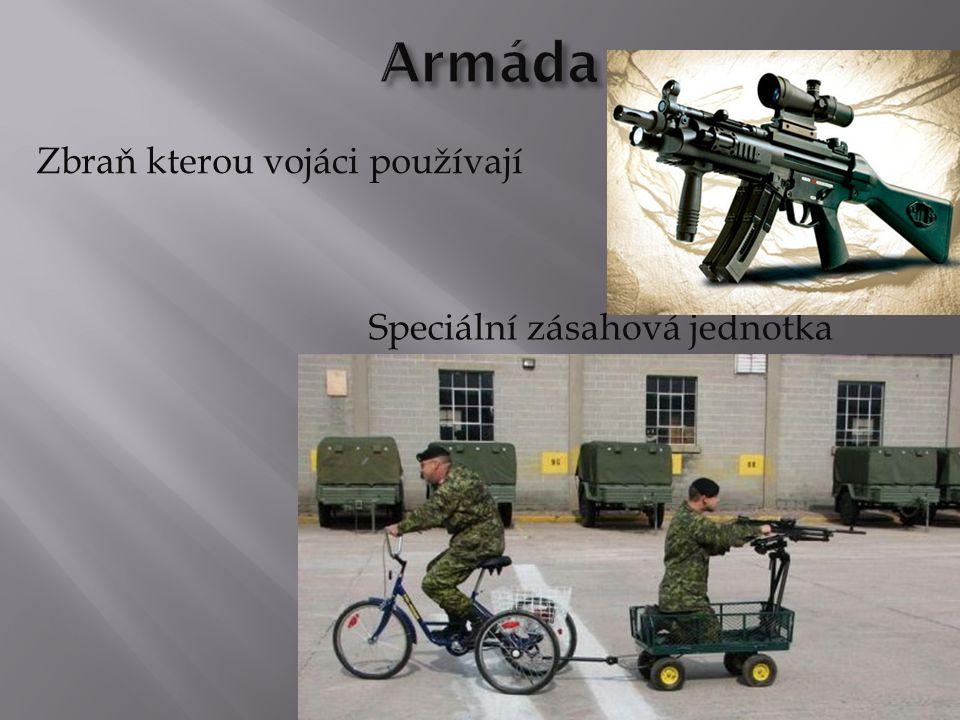 Speciální zásahová jednotka Zbraň kterou vojáci používají