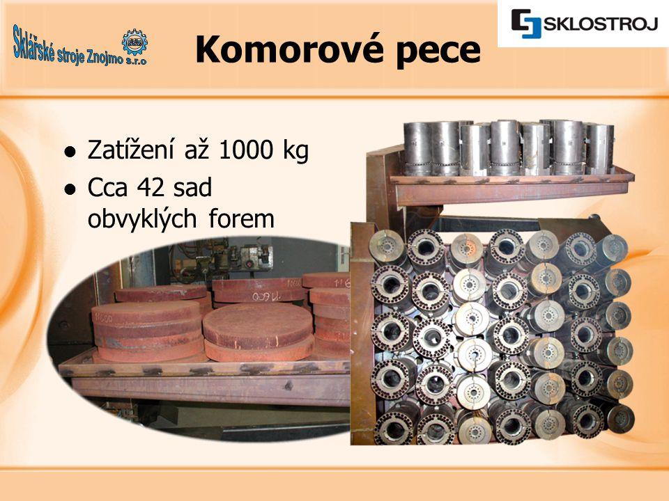 Zatížení až 1000 kg Cca 42 sad obvyklých forem Komorové pece