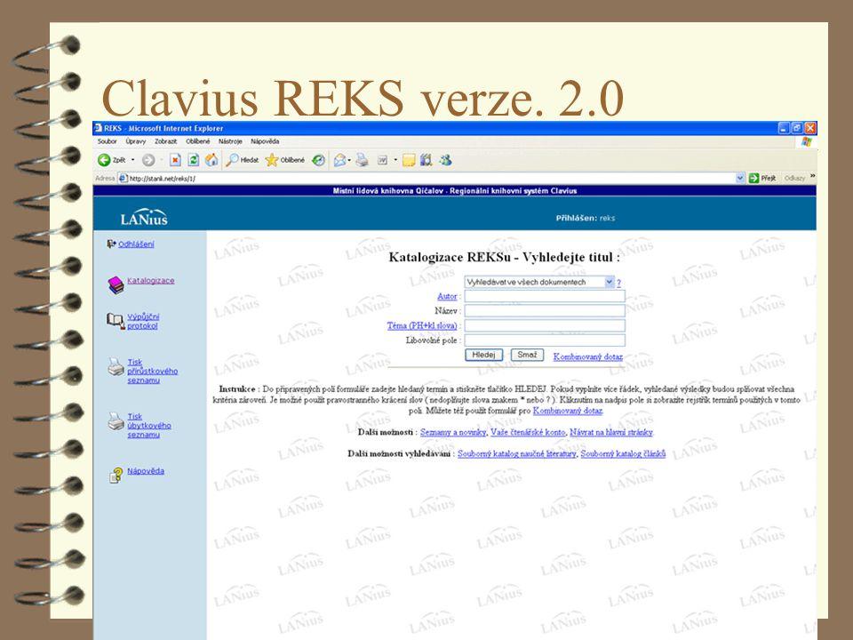 Pardubice 4.4.2007 Clavius REKS verze. 2.0