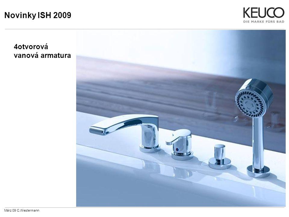 Novinky ISH 2009 März 09 C.Westermann 4otvorová vanová armatura
