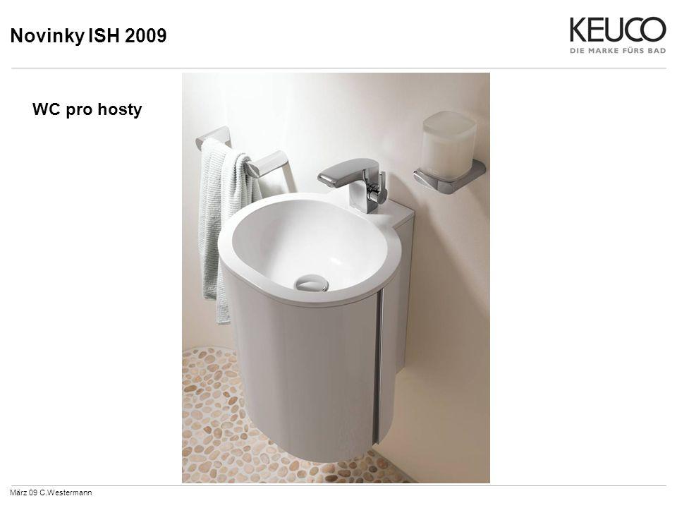 Novinky ISH 2009 Vana März 09 C.Westermann Vanová vpusť s pákovou směšovací armaturou pod omítku a ruční sprchou