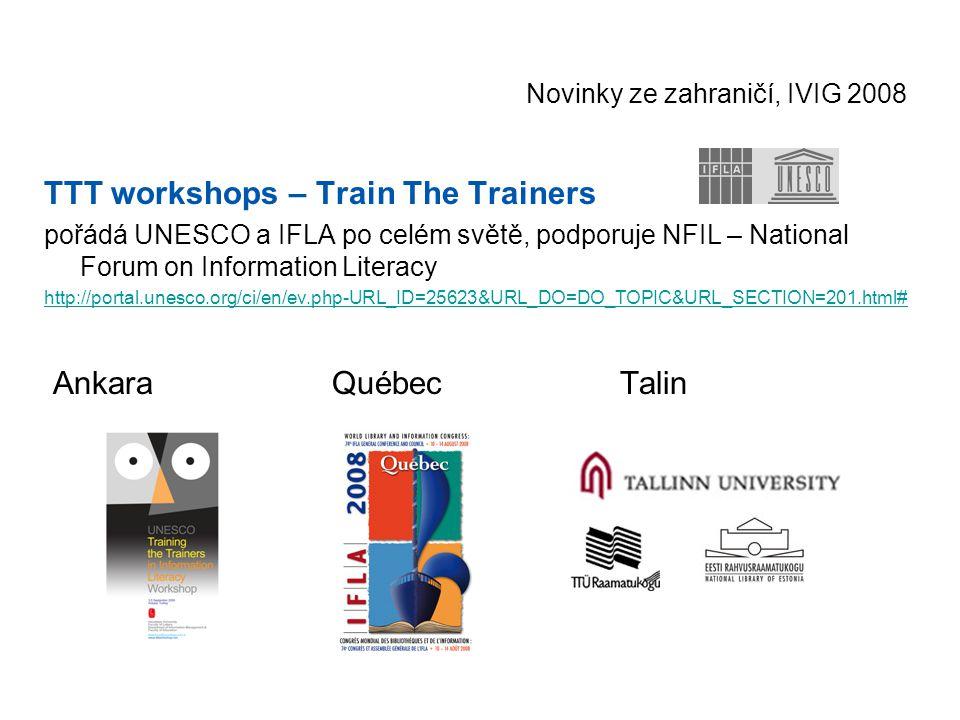 Novinky ze zahraničí, IVIG 2008 Infolitglobal - Information Literacy Resources Directory Specific Objective ONE - Report.