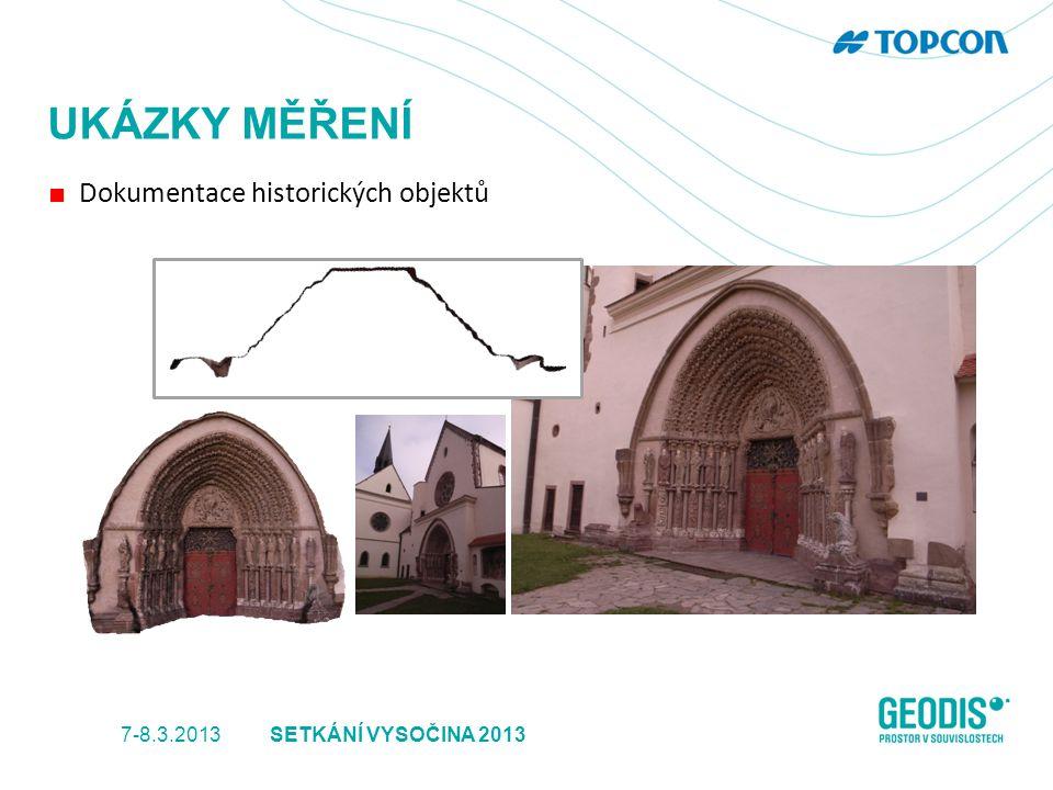 UKÁZKY MĚŘENÍ ■ Dokumentace historických objektů 7-8.3.2013SETKÁNÍ VYSOČINA 2013