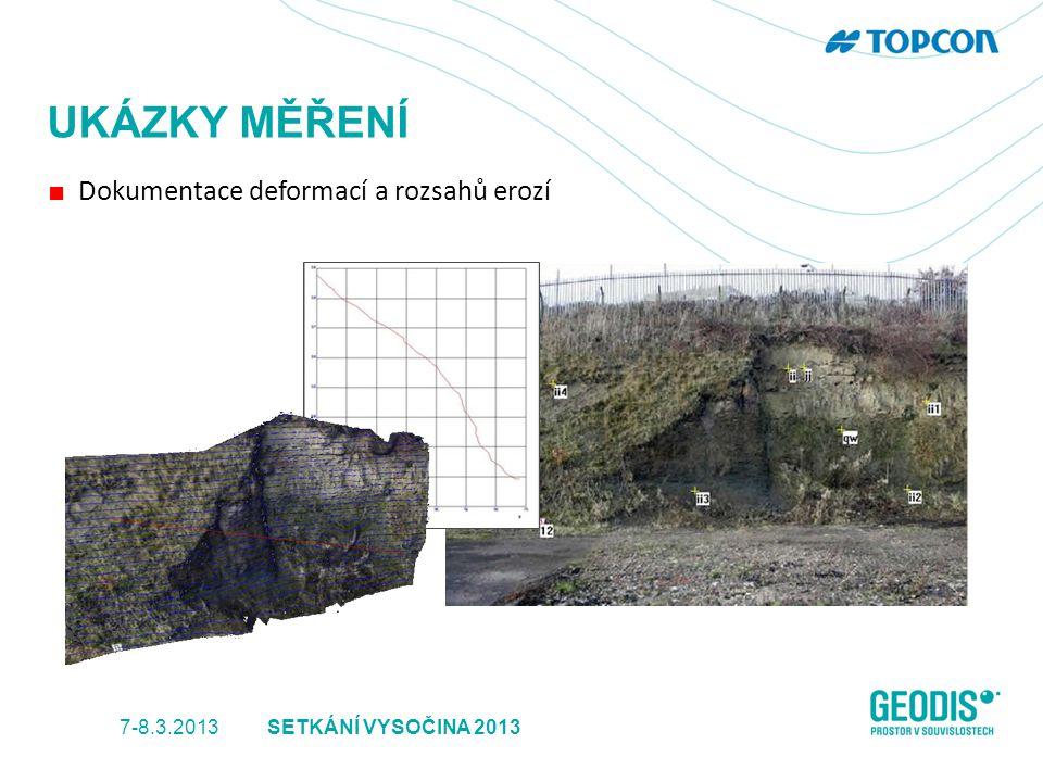 UKÁZKY MĚŘENÍ ■ Dokumentace deformací a rozsahů erozí 7-8.3.2013SETKÁNÍ VYSOČINA 2013
