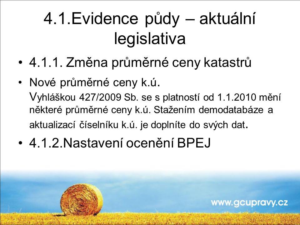 4.1.Evidence půdy – aktuální legislativa 4.1.1.