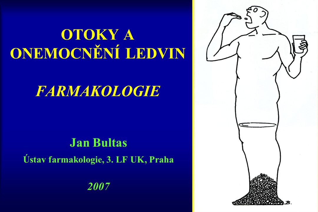 OTOKY A ONEMOCNĚNÍ LEDVIN FARMAKOLOGIE Jan Bultas Ústav farmakologie, 3. LF UK, Praha 2007