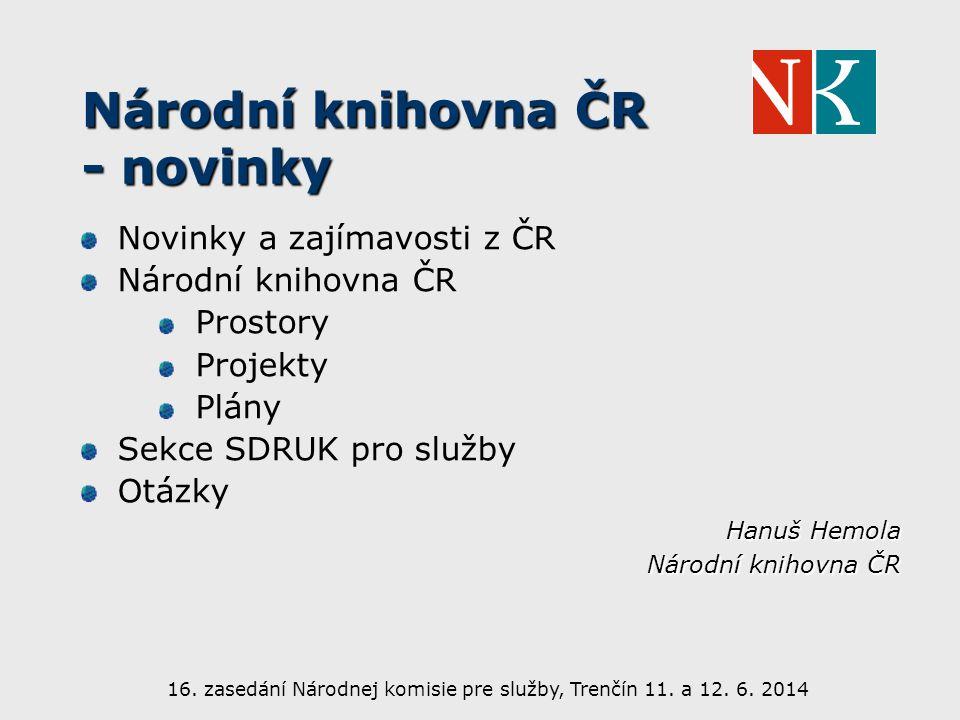 Novinky a zajímavosti z ČR Koncepce rozvoje knihoven ČR na léta 2011 – 2015 http://ukr.knihovna.cz/koncepce-rozvoje-knihoven-cr-na-leta- 2011-2015-/ http://ukr.knihovna.cz/koncepce-rozvoje-knihoven-cr-na-leta- 2011-2015-/ Centrální portál knihoven http://www.knihovny.cz http://www.knihovny.cz Celé Česko čte dětem http://www.celeceskoctedetem.cz/ http://www.celeceskoctedetem.cz/ Akce SKIP http://www.skipcr.cz/akce-a-projekty https://www.facebook.com/skipcr Březen měsíc čtenářů - Noc s Andersenem – Biblioweb - Týden knihoven – Už jsem čtenář - MARK etc.