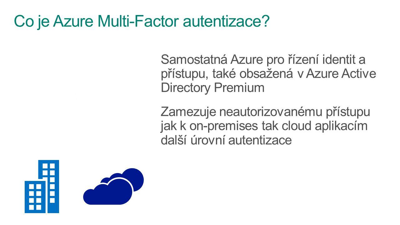 Samostatná Azure pro řízení identit a přístupu, také obsažená v Azure Active Directory Premium Zamezuje neautorizovanému přístupu jak k on-premises ta