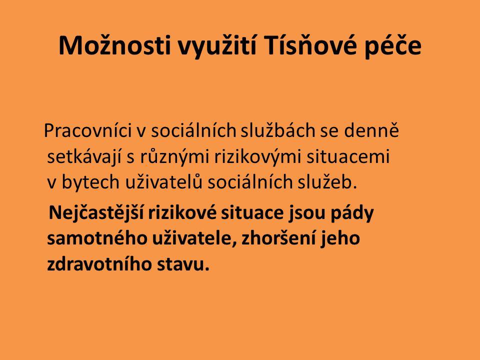 Možnosti využití Tísňové péče Pracovníci v sociálních službách se denně setkávají s různými rizikovými situacemi v bytech uživatelů sociálních služeb.