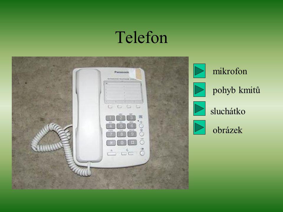 mikrofon pohyb kmitů Telefon sluchátko obrázek
