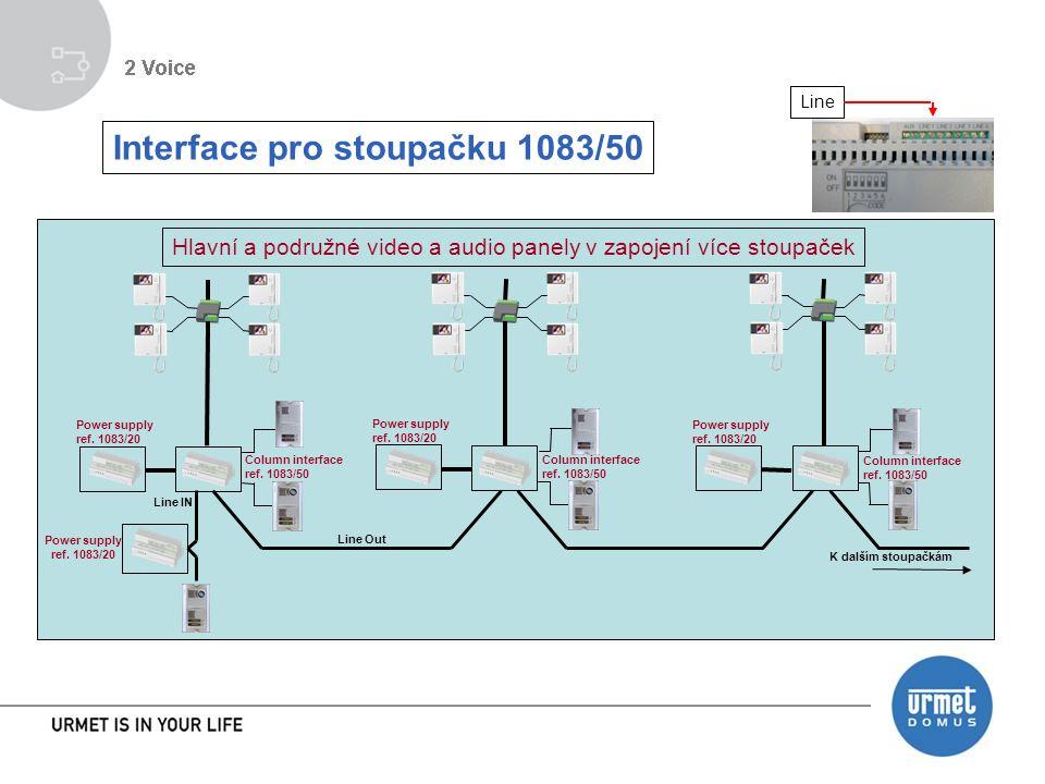 Line Interface pro stoupačku 1083/50 Column interface ref.