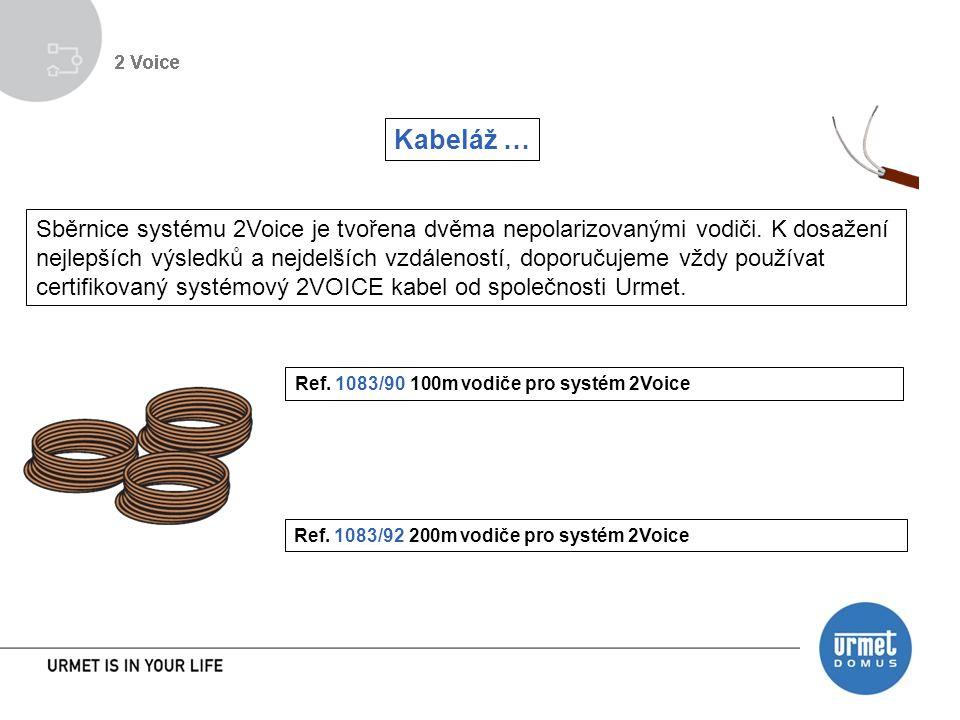 Kabeláž … Sběrnice systému 2Voice je tvořena dvěma nepolarizovanými vodiči.