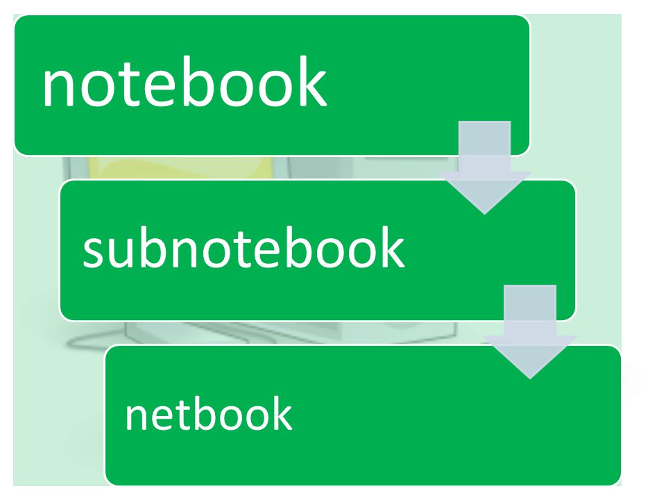 notebook subnotebook netbook