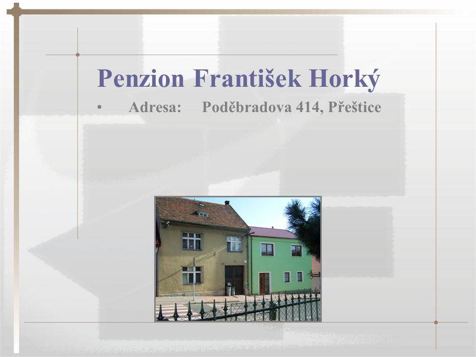 Penzion František Horký Adresa: Poděbradova 414, Přeštice