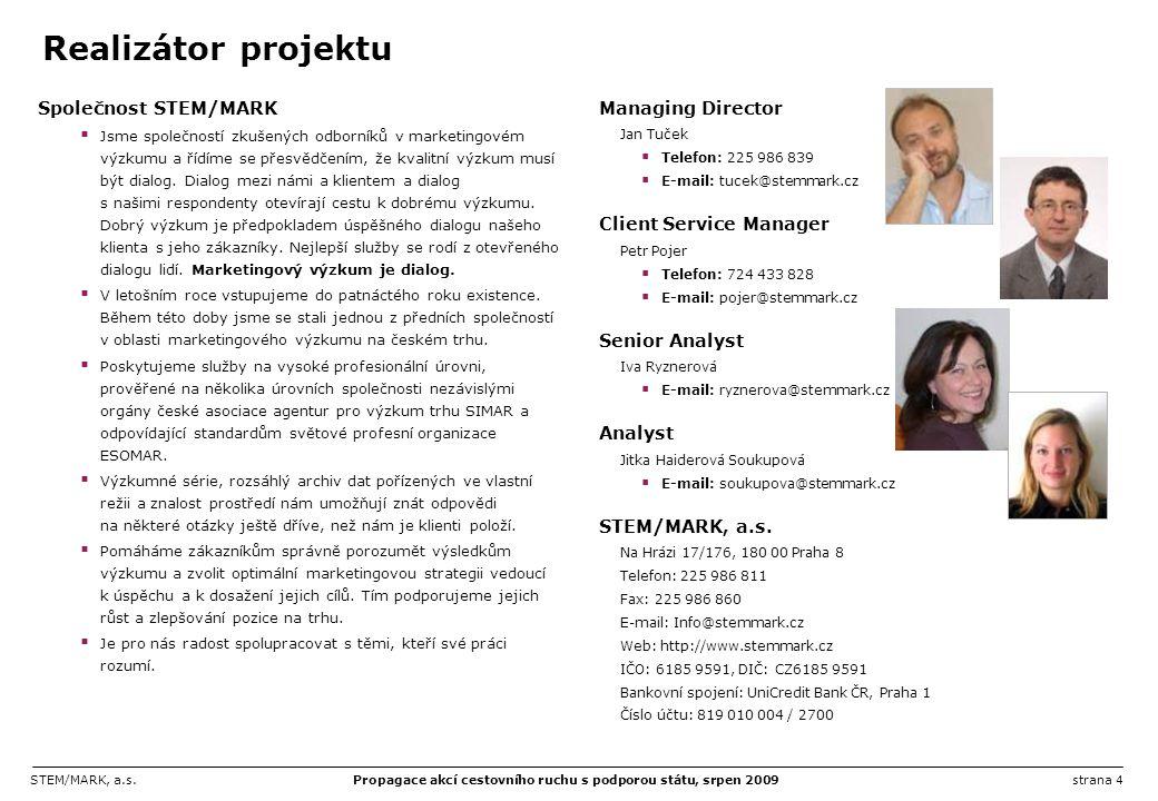 STEM/MARK, a.s.Propagace akcí cestovního ruchu s podporou státu, srpen 2009strana 45 Dotazník