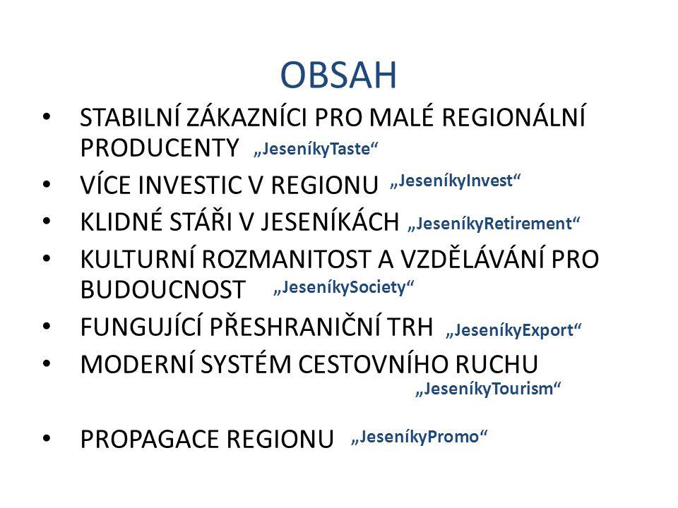 """Program podpory malých regionálních producentů Vylepšení programu """"JESENÍKY originální produkt ."""