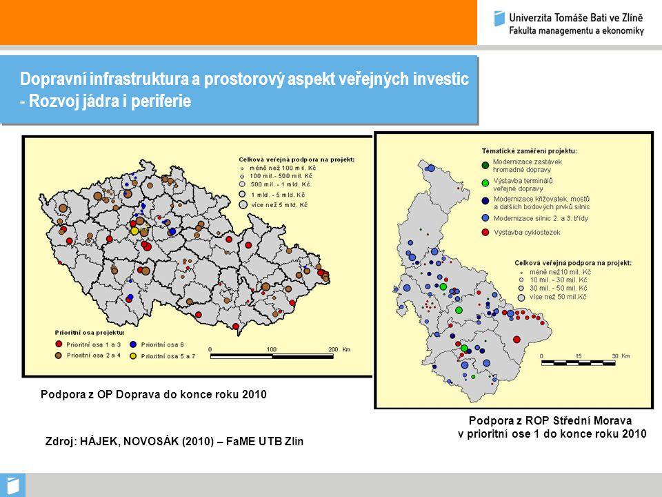 Dopravní infrastruktura, Morava a kohezní politika v programovém období 2014-2020 Dopravní infrastruktura: - Nutná podmínka rozvoje - Západovýchodní gradient - Existence chybějících úseků dopravní infrastruktury - Dopravní infrastruktura jako priorita i v programovém období 2014-2020