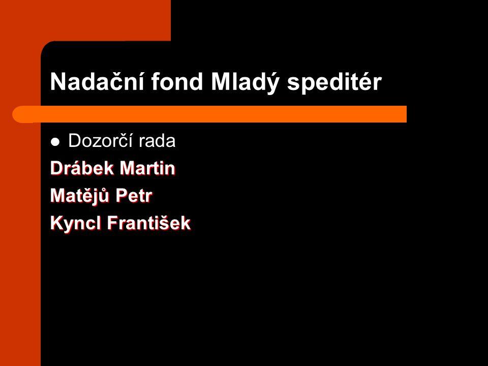 Nadační fond Mladý speditér Dozorčí rada Drábek Martin Matějů Petr Kyncl František