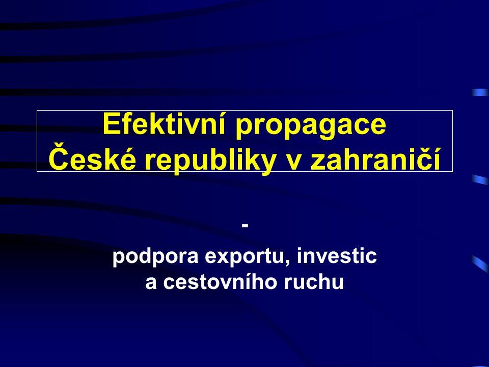 Efektivní propagace České republiky v zahraničí - podpora exportu, investic a cestovního ruchu