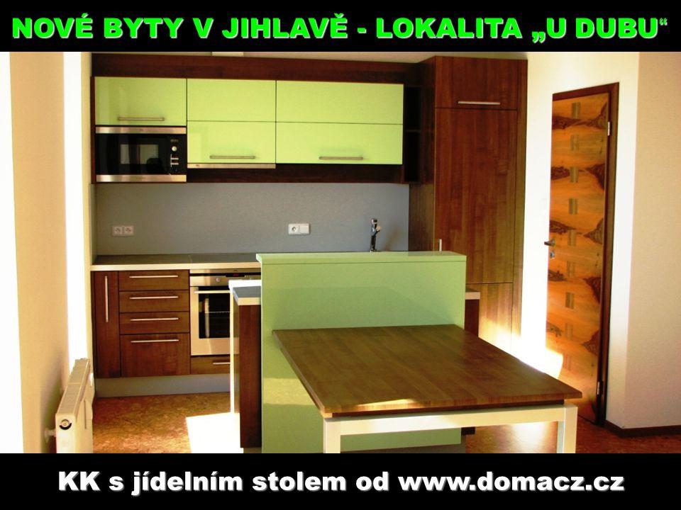 """KK s jídelním stolem od www.domacz.cz www.mdreality.cz NOVÉ BYTY V JIHLAVĚ - LOKALITA """"U DUBU"""