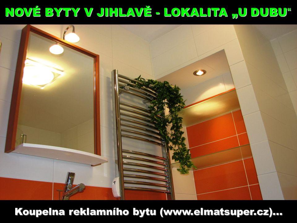 """Koupelna reklamního bytu (www.elmatsuper.cz)... NOVÉ BYTY V JIHLAVĚ - LOKALITA """"U DUBU """""""