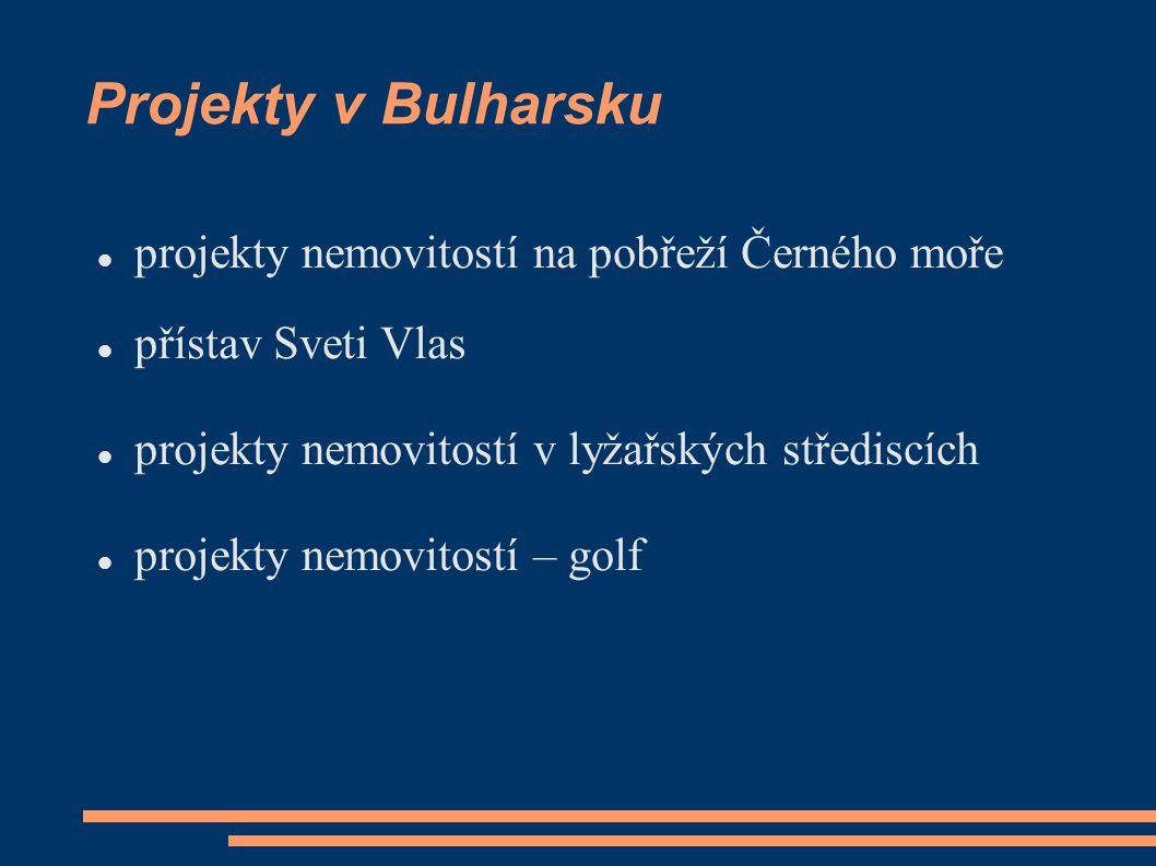 Projekty v Bulharsku projekty nemovitostí na pobřeží Černého moře přístav Sveti Vlas projekty nemovitostí v lyžařských střediscích projekty nemovitost
