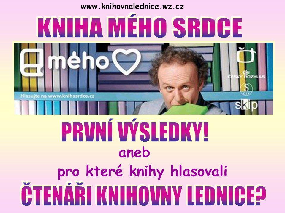 www.knihovnalednice.wz.cz pro které knihy hlasovali aneb