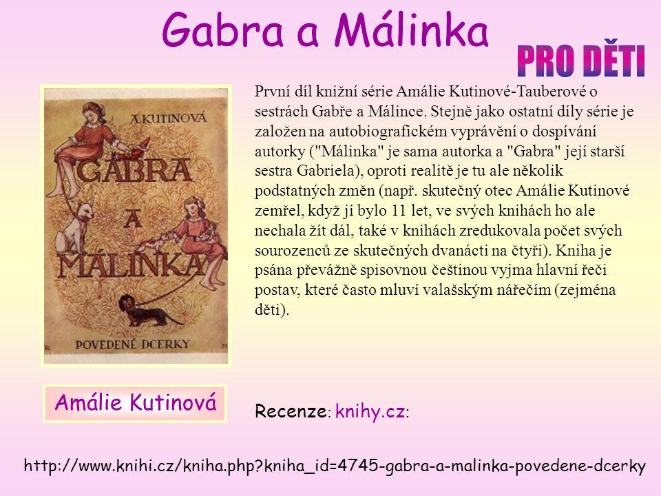 První díl knižní série Amálie Kutinové-Tauberové o sestrách Gabře a Málince.