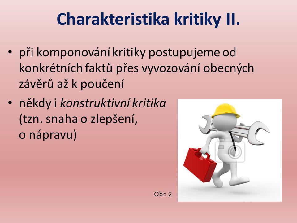 Charakteristika kritiky II.