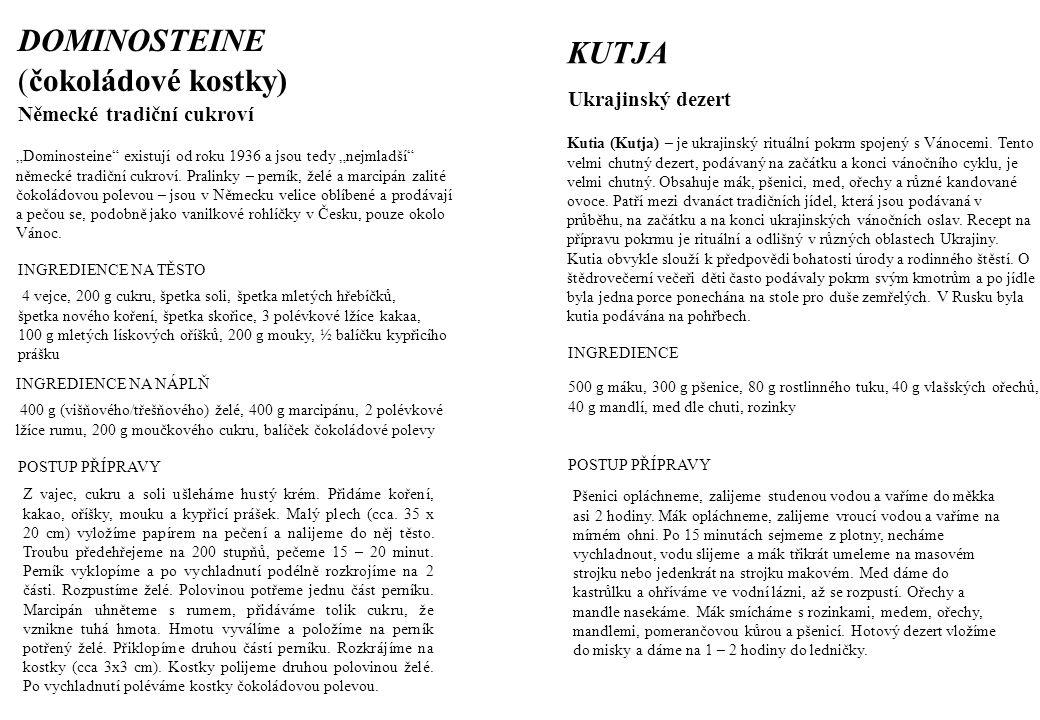 BEJGLI INGREDIENCE NA TĚSTO 260 g mouky, 78 g másla, 52 g vepřového sádla, 26 g moučkového cukru, špetku soli, 4 g kvasnic, 26 g žloutku (1 ks), 52 g mléka Tradiční maďarské cukroví MELOMAKARONA INGREDIENCE 2 šálky lehkého olivového oleje, ½ šálku cukru, 1 šálek čerstvé pomerančové šťávy, 1 šálek brendy, 1 lžíce mleté skořice, 1 lžíce mletého hřebíčku, šťáva z ½ citronu, 1 lžička jedlé sody 1 lžíce pomerančové kůry, 1 kg mouky, 2 lžičky kypřicího prášku POSTUP PŘÍPRAVY Řecká sladkost V mixeru pořádně umíchejte cukr s olejem, aby vznikla pěna (zhruba 15 min).