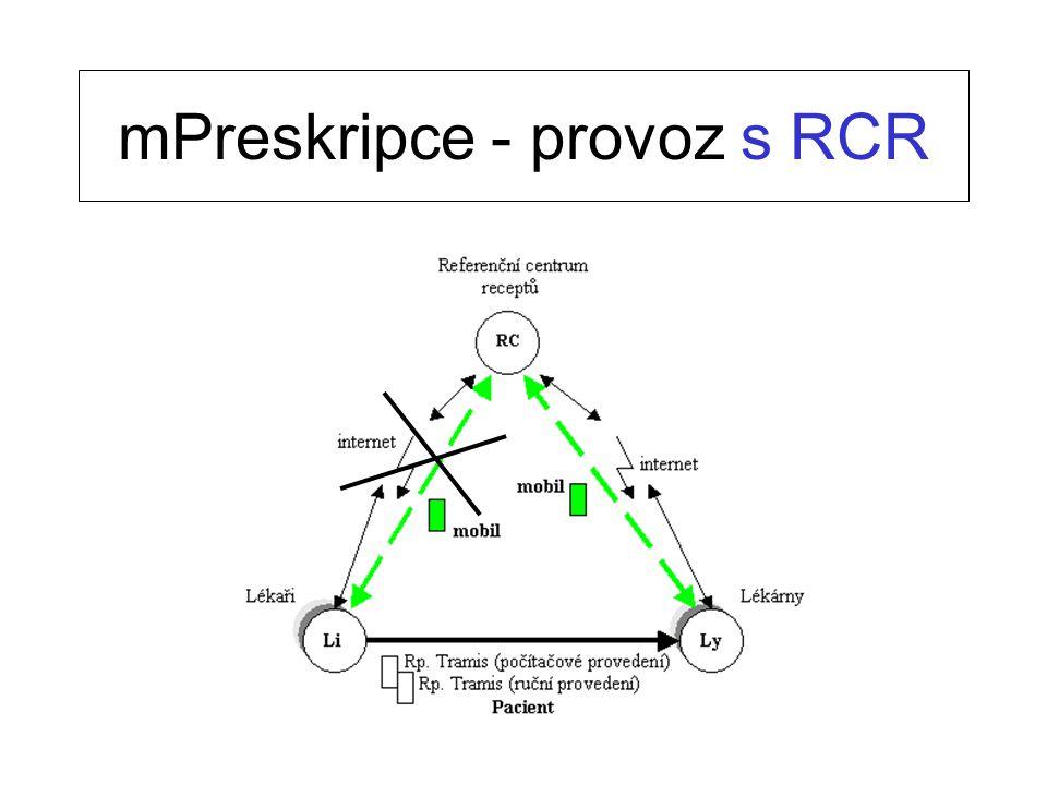 mPreskripce - provoz s RCR