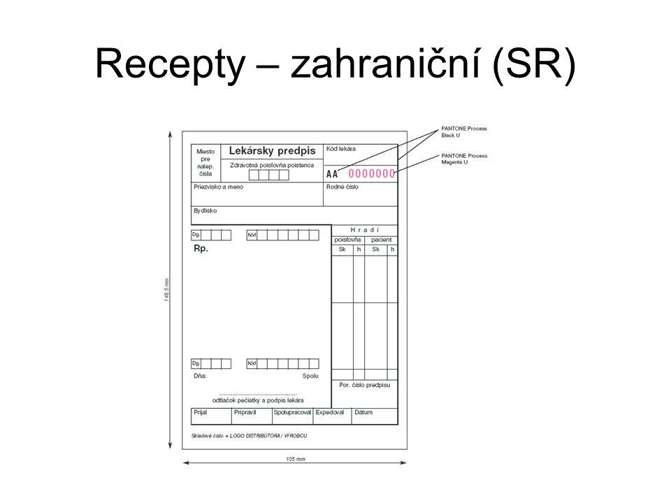 Recepty – zahraniční (SR)