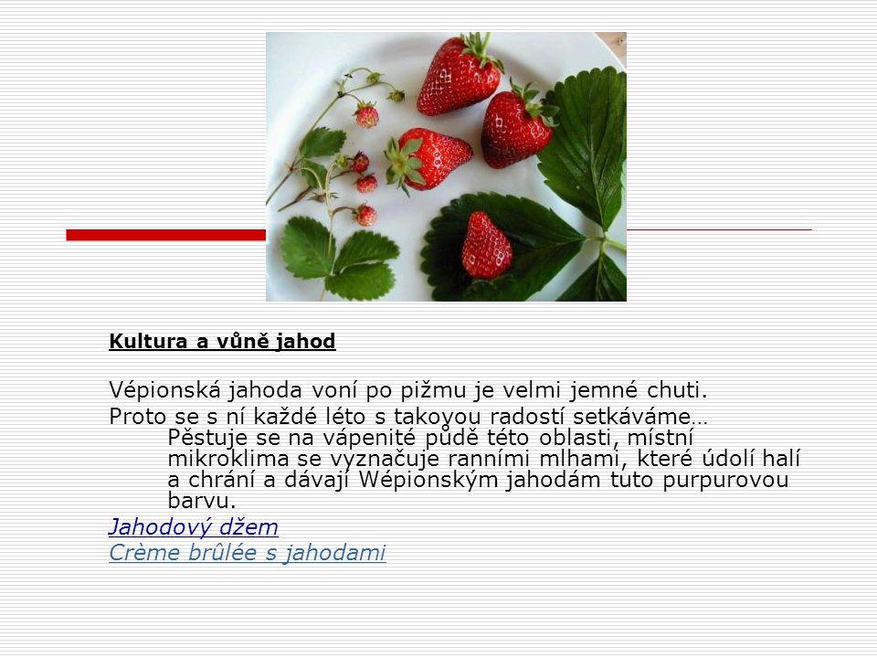 Crème brûlée (připálený krém)  Crème brûlée s jahodami fraises (Namur - Wépion)  Velmi chutná a šťavnatá variant wépionských jahod  Ingredience  Pro 6 osob  300 g jahod  3 žloudky  1 sáček vanilkového cukru  2 cl Grand-marnier  4 dl smetany  4 kávové lžičky tmavého cukru  Omýt jahody, odstranit zelené lístky a nechat jahody dobře okapat.