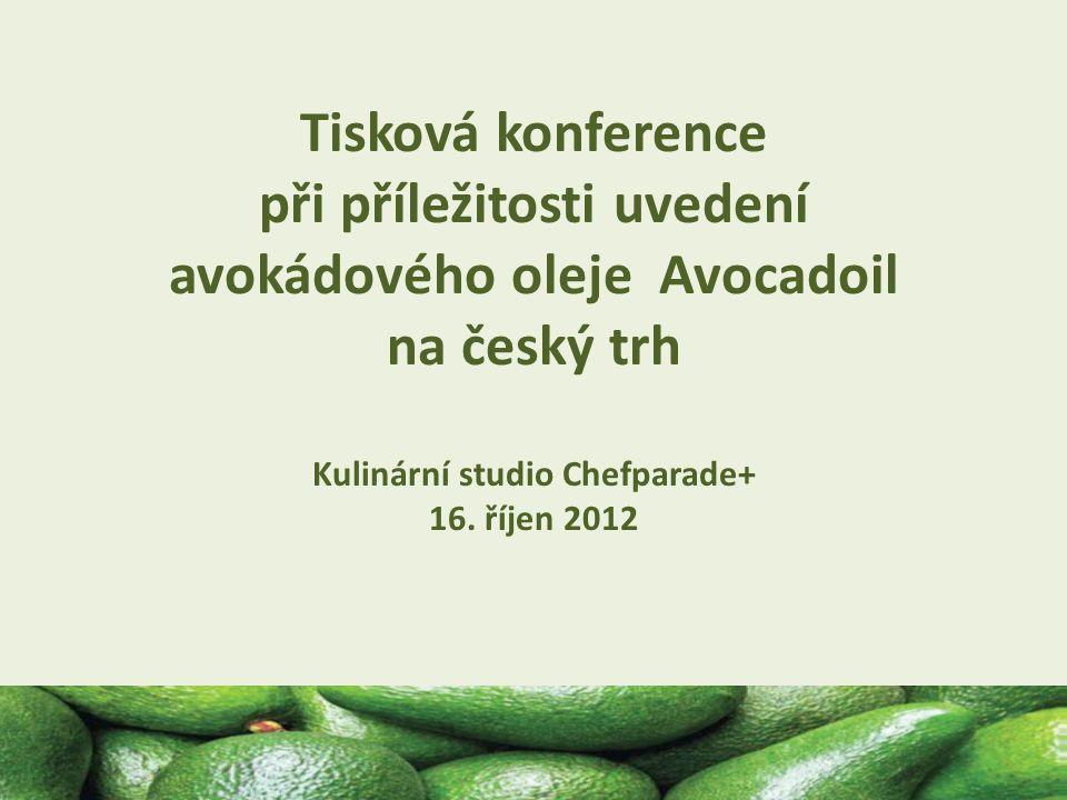 Program tiskové konference Tisková konference se konala v kulinárním studiu Chefparade+, což je prostor umožňující velmi interaktivní komunikaci mezi účinkujícími a novináři včetně ukázek přípravy pokrmů Tisková konference byla připravena ve spolupráci s šéfkuchařem Ristorante Soave, Janem Součkem Jiří Hájek, brand manager společnosti Pfanner představil Avovadoil, jeho původ, složení, výživové hodnoty, cenu a dostupnost v maloobchodní síti Šéfkuchař Jan Souček připravil pro tuto příležitost originální recepty, na kterých demonstroval široké možnosti využití avokádového oleje ve studené i teplé kuchyni, včetně přípravy sladkých pokrmů Tiskovou konferenci navštívilo 33 novinářů z tištěných i online médií