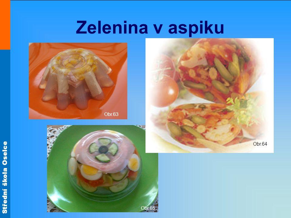 Střední škola Oselce Zelenina v aspiku Obr.63 Obr.65 Obr.64