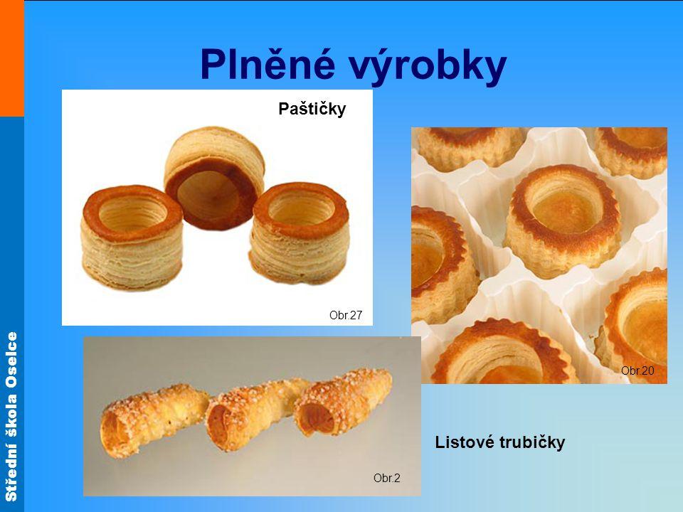Střední škola Oselce Plněné výrobky Obr.11 Obr.4 Listové rybičky Listové kornouty