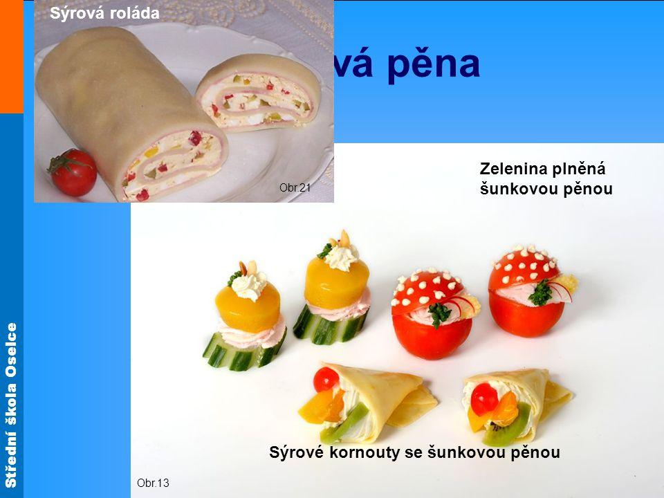 Střední škola Oselce Lososová pěna Obr.7 Kanapky s lososovou pěnou Obr.12 Obr.9