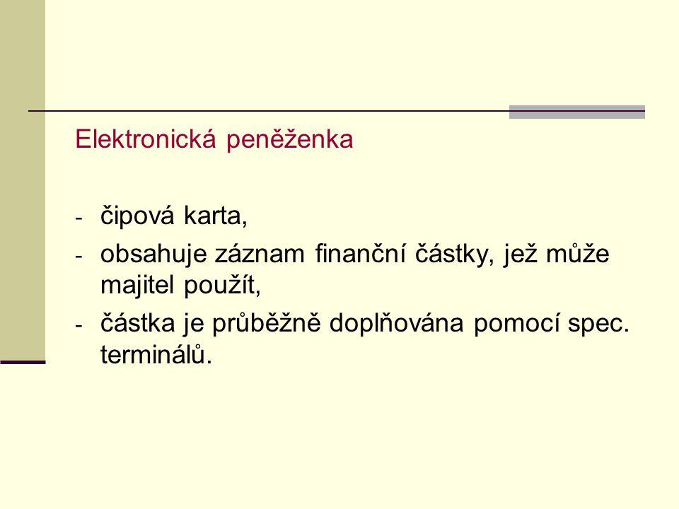 Dokumentární inkaso - představuje platební instrument, kdy vývozce dává příkaz své bance, aby pro něj sama inkasovala (resp.